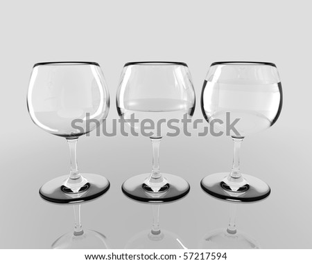 Glass Progress Concept - stock photo