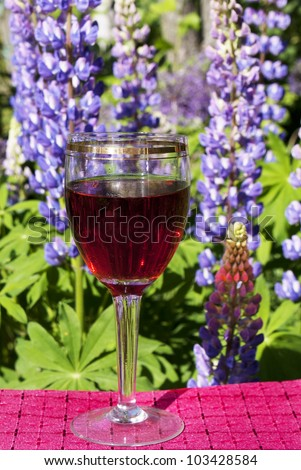 Glass red wine - stock photo