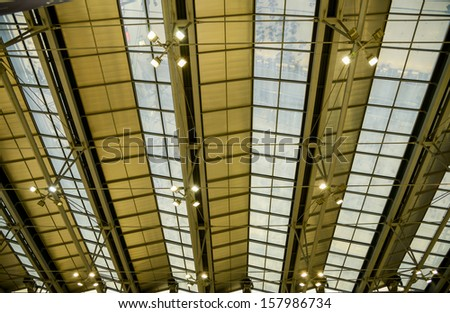 Glass roof pattern - stock photo