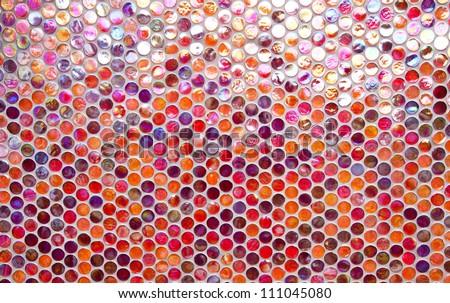 Glass round glossy multicolor mosaic pattern - stock photo
