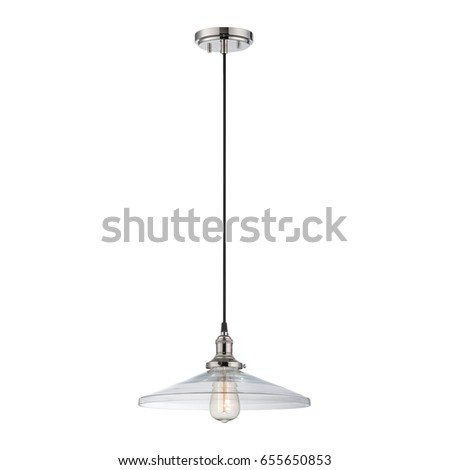 Glass shade ceiling pendant light isolated stock photo 655650853 glass shade ceiling pendant light isolated on white background light fixture with led bulbs mozeypictures Choice Image