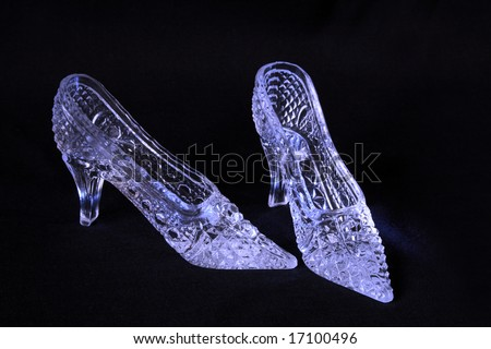 Glass slippers - stock photo