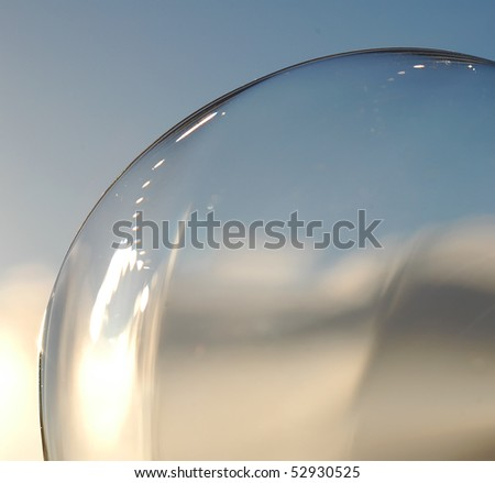 glass sphere and sky