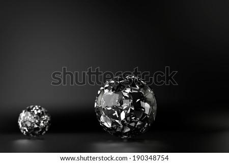 glass sphere design - stock photo