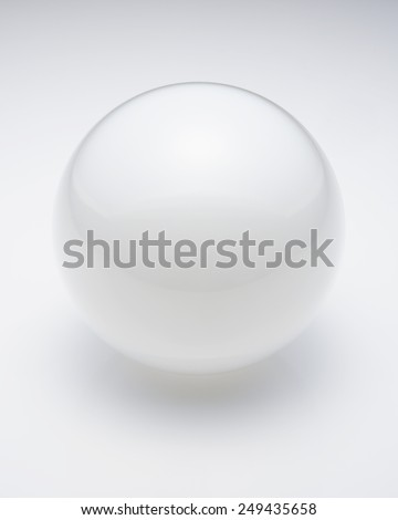 glass sphere with reflections - stock photo