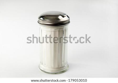 zuckerstreuer glass sugar container filled with wmf ersatzglas