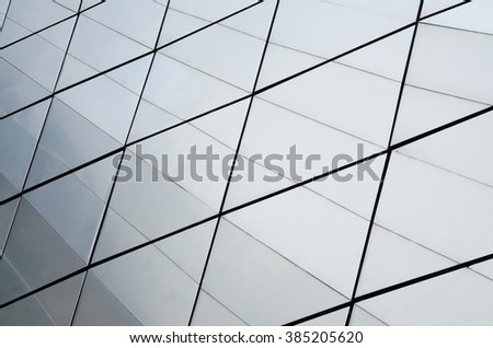 Glass surface of contemporary skyscraper, business concept of creative industrial architecture