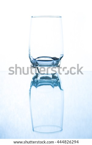 glass transparent white background
