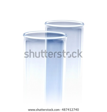 Glass Tubes 3d Illustration