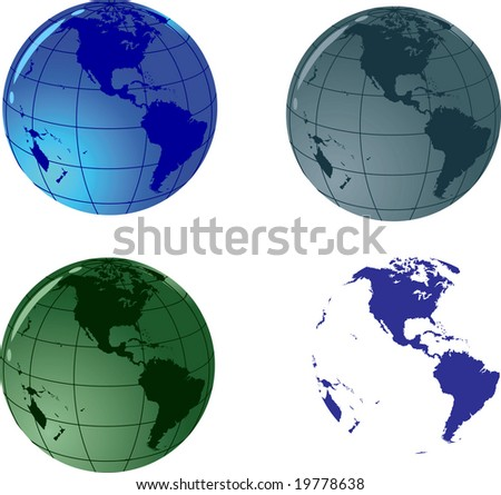 Glass vector globe;