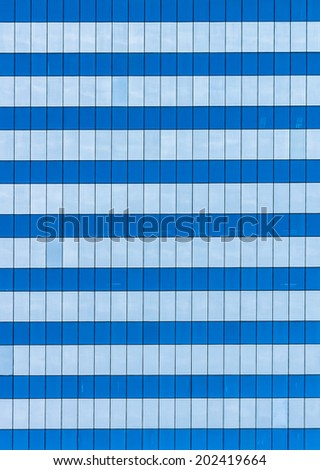 Glass walls and windows of a new modern office building - stock photo