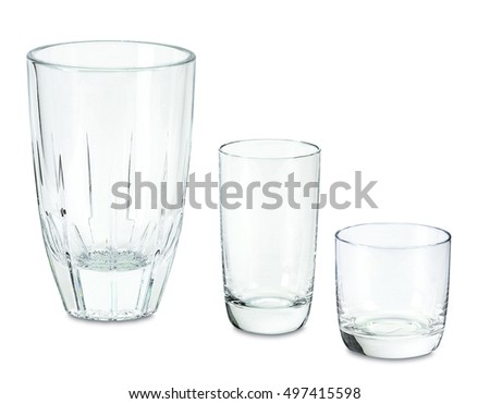 glass, water, isolated, empty, vector, cup, drink, clear, background,crystal, transparent, , white, object, clean, liquid, drinking, full, cocktail, single, purity
