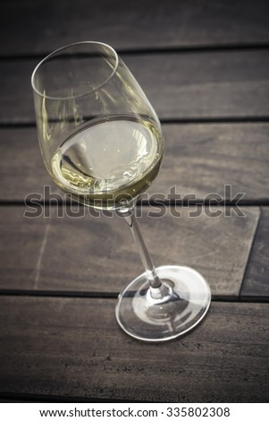 Glass white wine - stock photo
