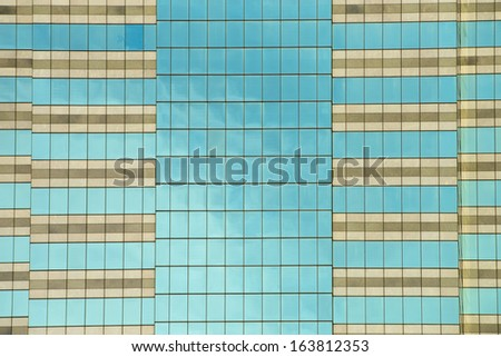 Glass windows background of modern building