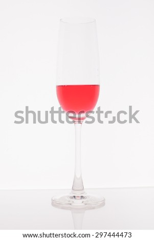 Glass Wine on white background