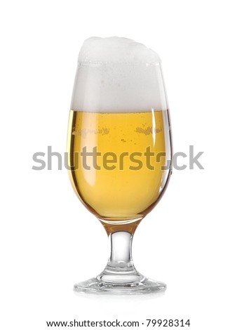 Glass with beer