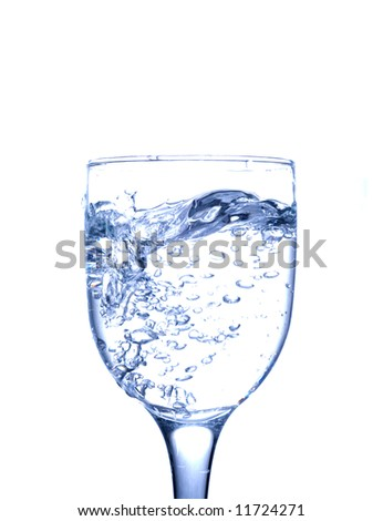 Glass with clear water - stock photo