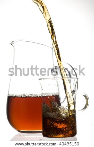 Glass with coffee