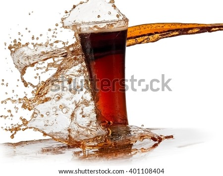 Glass with cola splash