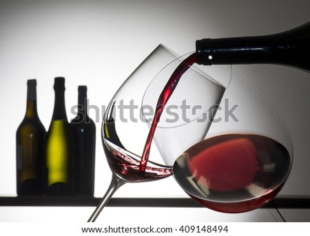 glass with red  - stock photo
