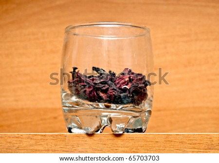 glass with spices - stock photo