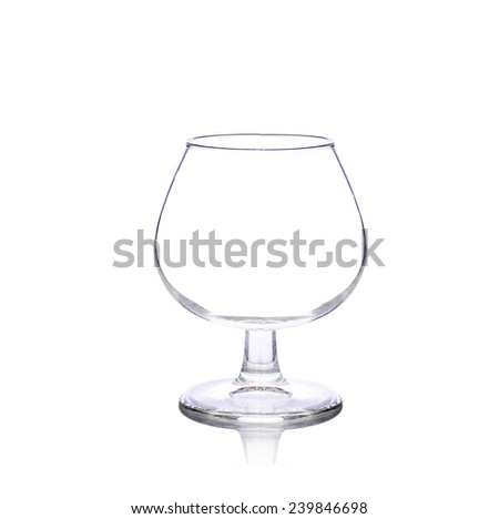 Glass  with white background - stock photo
