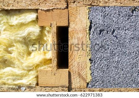 Glass Wool Polystyrene Warming Walls House Stock Photo 622971383 ...