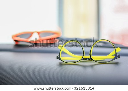 Glasses accessories personality to look good for all ages. - stock photo