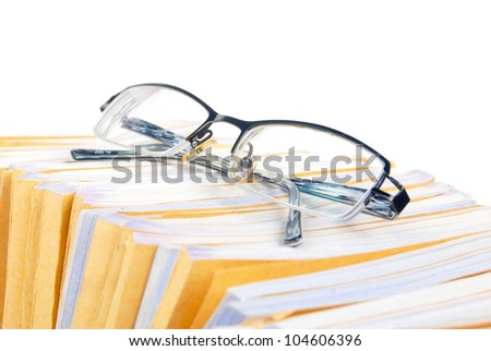 Glasses and document