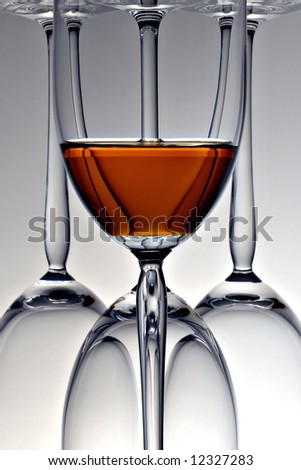 Glasses bottoms up - stock photo
