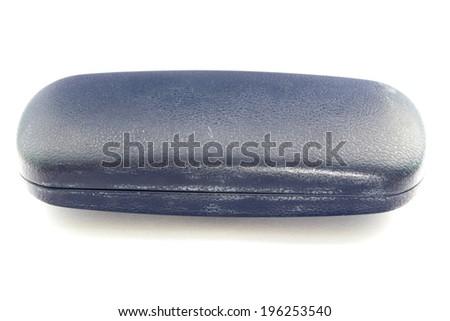 glasses case isolate object on white background  - stock photo