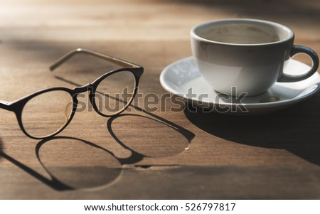 Glasses Cup Coffee Break Concept