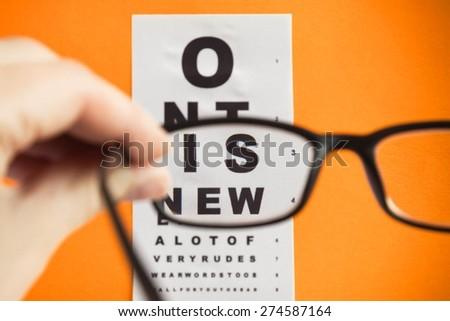 Glasses, Eyesight, Optometrist. - stock photo