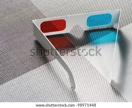 Glasses for 3D pictures and movies - stock photo