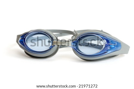 Glasses for swimming isolated on white background