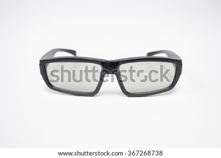 glasses for watching movies 3D. - stock photo
