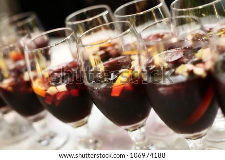 Glasses Full of Sangria - stock photo