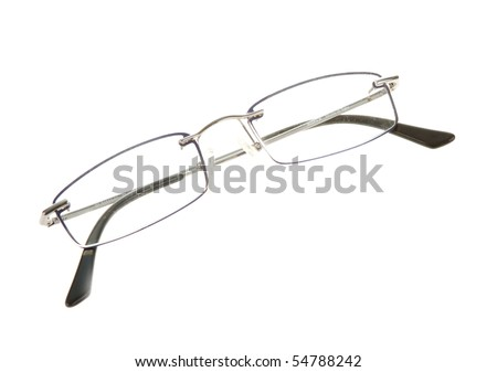 Glasses isolate on white