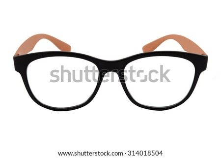 Glasses isolated against a white background