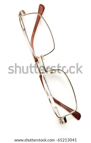 glasses isolated on white - stock photo