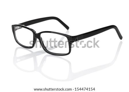 Glasses. Isolated on white background - stock photo