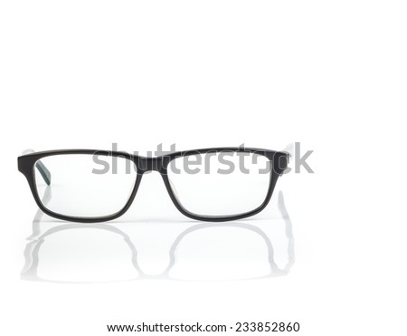 Glasses. Isolated on white background - stock photo