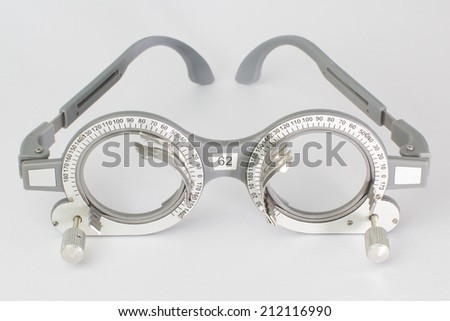 glasses ,Nerd glasses isolated on white - stock photo