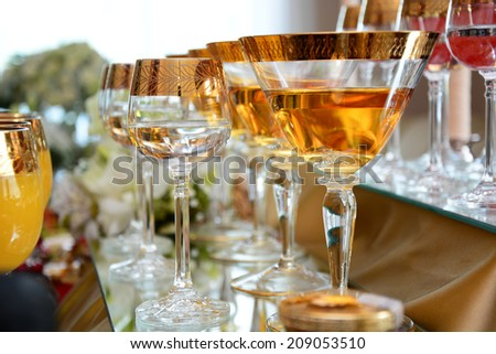 Glasses of drinks  - stock photo