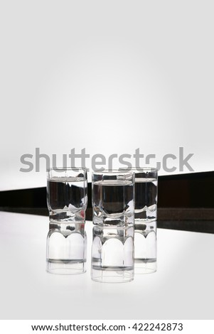 Glasses of vodka