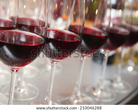 glasses of wine - stock photo