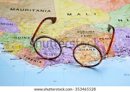 Ghana Map Stock Images RoyaltyFree Images Vectors Shutterstock - Map of ghana