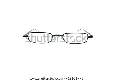 Glasses or spectacles isolated on white background.