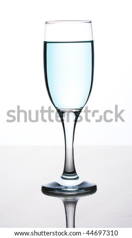 glasses with drinks isolated on a white background