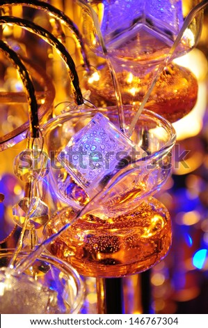 Glassware for champagne party